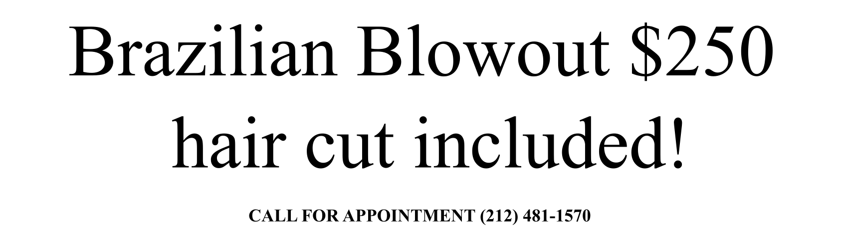 Brazilian blowout text only 2019 White